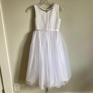 First Communion / Flower Girl White Tulle Dress